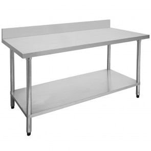 FED Economic 304 Grade Stainless Steel Table with splashback 1800x700x900 1800-7-WBB