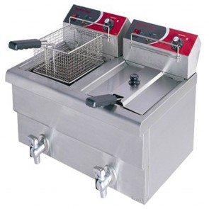 F.E.D EF-S7.52 10 Amp Double Benchtop Electric Fryer