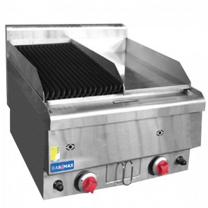 F.E.D GASMAX Benchtop LPG Gas Combo 1/2 Char & 1/2 Griddle JUS-TRGH60LPG