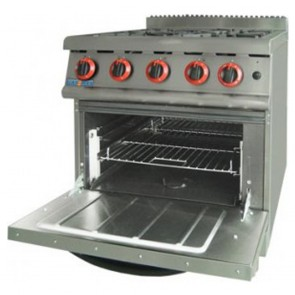 F.E.D Gasmax Natural Gas Four Burner Top On Oven JZH-RP-4(R)