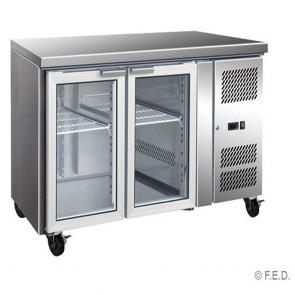 F.E.D GN2100TNG 2 Glass Door Gastronorm Bench Fridge