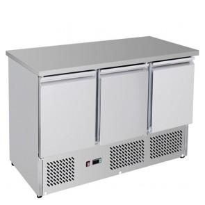 F.E.D GNS1300B Three Door Compact Workbench Fridge