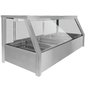 FED Heated Eight x ½ Pan Bain Marie Angled Countertop Display BM14TD