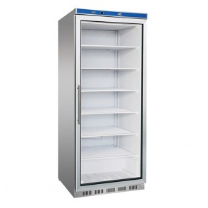 F.E.D HF600G S/S Display Freezer with Glass Door