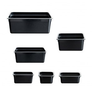 F.E.D JW-P162B - Black Poly 1/6 x 65 mm Gastronorm Pan