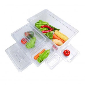 F.E.D JW-P164 - Clear Poly 1/6 x 100 mm Gastronorm Pan