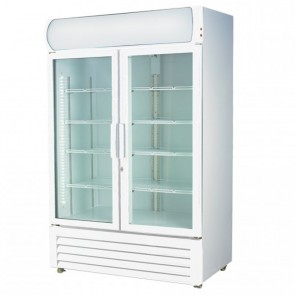 F.E.D LG-730GE Two Glass Door Colourbond Upright Drink Fridge