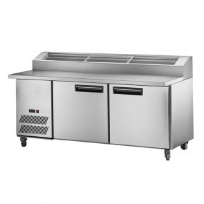 F.E.D PPB/18 two large door DELUXE Pizza Prep Bench