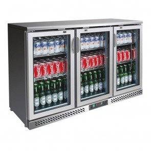 F.E.D SC316SG three door SS Drink Cooler