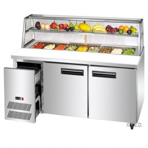 F.E.D SCB/18 two large door DELUXE Sandwich Bar