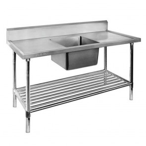 FED Single Centre Sink Bench & Pot Undershelf SSB7-1500C/A