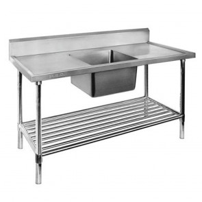 FED Single Centre Sink Bench & Pot Undershelf SSB7-1800C/A