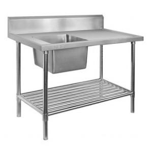 FED Single Left Sink Bench & Pot Undershelf SSB6-1500L/A