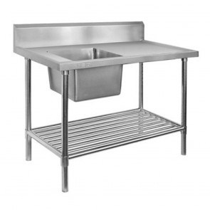 FED Single Left Sink Bench with Pot Undershelf SSB7-1800L/A