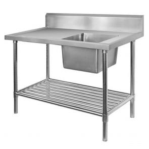 FED Single Right Sink Bench & Pot Undershelf SSB6-1500R/A