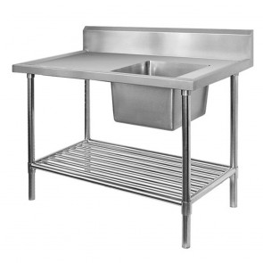FED Single Right Sink Bench with Pot Undershelf SSB7-1200R/A