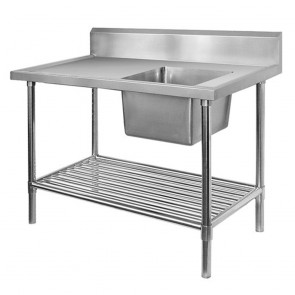 FED Single Right Sink Bench with Pot Undershelf SSB7-1500R/A
