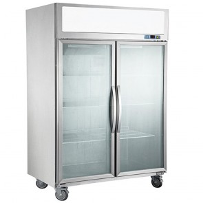 F.E.D SUCG1000 Double Door Upright Display Fridge