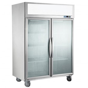 F.E.D SUCG1200 Double Door Upright Display Fridge