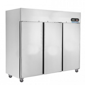 F.E.D SUF1500 Three Door SS Upright Display Freezer