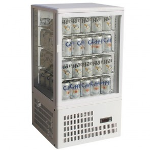 F.E.D TCBD78W Four-sided Countertop Display Fridge WHITE