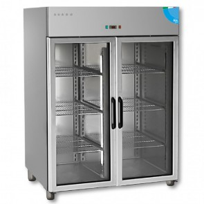 F.E.D TD1400TNG Premium Double Glass Door Upright Fridge - 1400 Litre