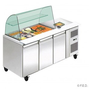 F.E.D THP2100SALGC two door DELUXE Salad Bar