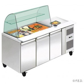 F.E.D THP3100SALGC three door DELUXE Salad Bar