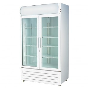 FED Two Glass Door Upright Drink Fridge LG-1000GE