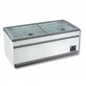 F.E.D ZCD-L210S Supermakert Island Dual Temperature Freezer & Chiller
