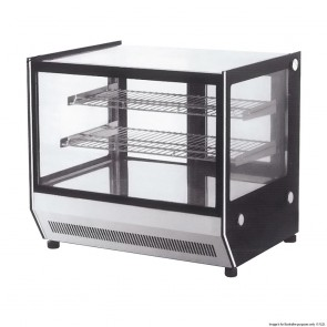 FED Counter Top square glass Cold food display - GN-900RT