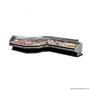 FED Curved front glass deli display 2020x1140x1260 PAN2000