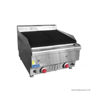 FED Gasmax Benchtop 2 LPG Burner Chargrill JUS-TRH60LPG
