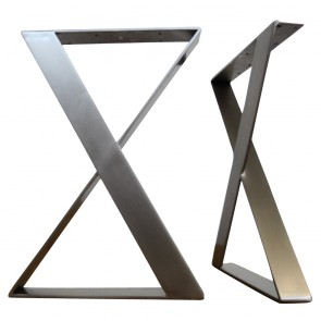 Flat Stainless Steel X Shaped Table Legs