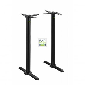 Flat Tech Self Levelling Twin Bar Height Table Base KT22