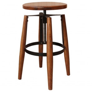 French Industrial Swivel Bar Stool