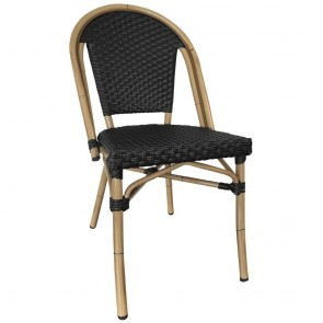 French Wicker Outdoor Cafe Chair