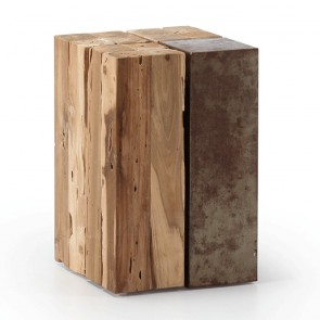 Gayle Rustic Teak Side Table