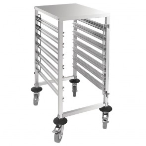 GG498 Vogue Gastronorm 1/1 Racking Trolley (7 Level)