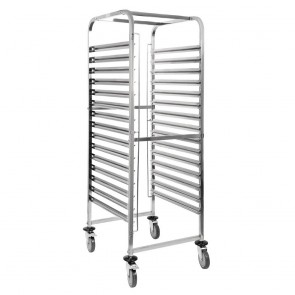 GG499 Vogue Gastronorm 2/1 Racking Trolley (15 Level)
