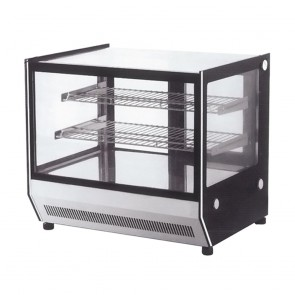 GN-1200RT FED Counter Top square 2 Shelves Glass Cold food display - GN-1200RT