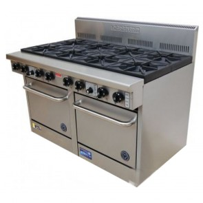 Goldstein 10 Burner Gas Cooktop + Double Oven PF-10-2/28