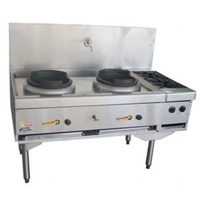 Goldstein 2 Burner Wok Cooker + 2 Sideburners CWA-2B2