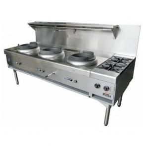 Goldstein 3 Burner Wok Cooker + 2 Sideburners CWA-3B2