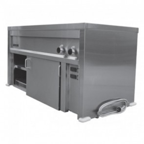 Goldstein 3 Pan Bain Marie + Underbench Hot Cabinet SBM3/HCS