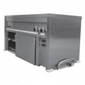 Goldstein 6 Pan Bain Marie + Underbench Hot Cabinet SBM6/HCS