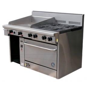 Goldstein 6 Burner Gas Cooktop + Double Salamander Toaster PF-6-24GSA-2/28