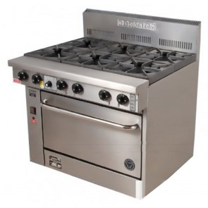 Goldstein 6 Burner Gas Cooktop + Oven PF-6-28