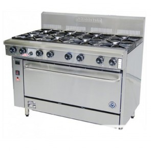 Goldstein 8 Burner Gas Cooktop + Oven PF-8-28