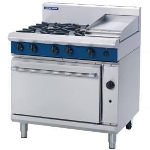 GR796-N Blue Seal By Moffat 900mm Static Oven Range 4X Burners and 300mm Griddle - Natural Gas